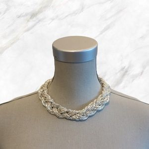 4/$30 🌷 Aldo | Silver Braided Chain Necklace